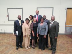 Chapter members with Artist Gilmore